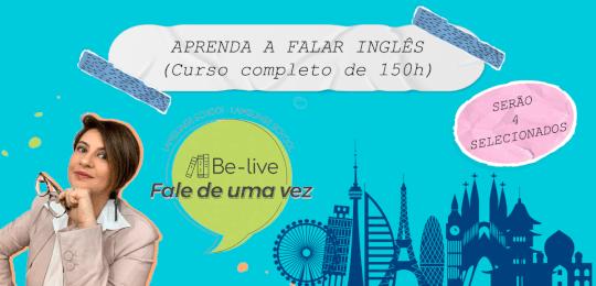 """BE-LIVECURSO DE INGLÊS ONLINE """"FALE DE UMA VEZ"""""""