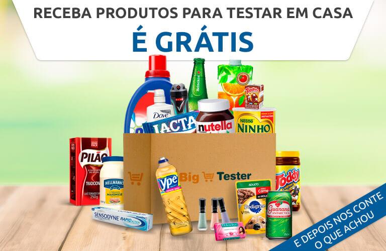 Receba produtos para testar em casa!